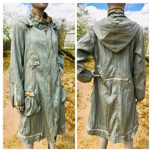 Vintage MOTYS Collection Crinkle Hooded Coat